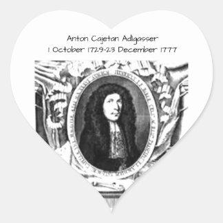 Pegatina En Forma De Corazón Antón Cajetan Adlgasser