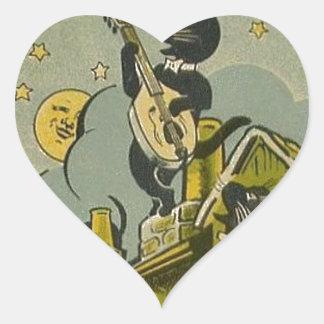 Pegatina En Forma De Corazón Anuncio del francés del vintage