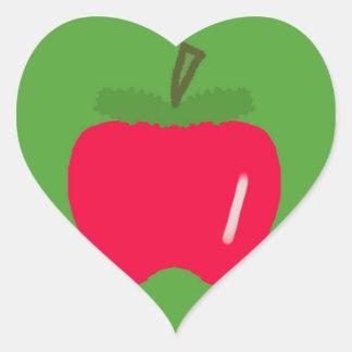 Pegatina En Forma De Corazón Apple para el profesor