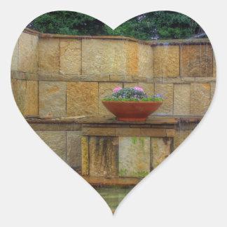Pegatina En Forma De Corazón Arboreto de Dallas y entrada de los jardines