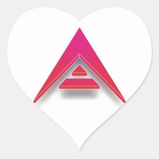 Pegatina En Forma De Corazón ARCA en 3D