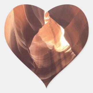 Pegatina En Forma De Corazón ARIZONA - barranco superior C del antílope - roca