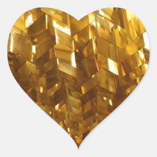Pegatina En Forma De Corazón Arte abstracto del techo del oro