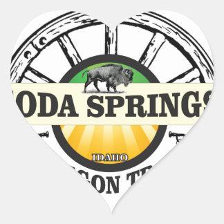 Pegatina En Forma De Corazón arte del rastro de Soda Springs Oregon