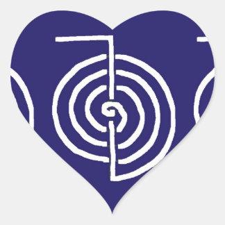 Pegatina En Forma De Corazón Arte simbólico: Reiki Chokurai