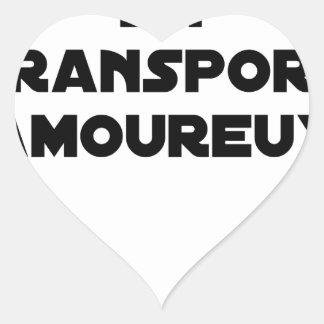 Pegatina En Forma De Corazón AUTOESTOP ORGANIZADO EN ARREBATO DE AMOR - Juegos