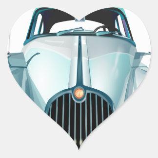 Pegatina En Forma De Corazón automóvil del vintage del coche del oldtimer
