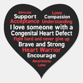Pegatina En Forma De Corazón Ayuda congénita de la semana de la conciencia del