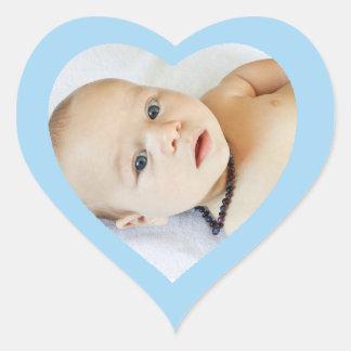 Pegatina en forma de corazón azul lindo de encargo
