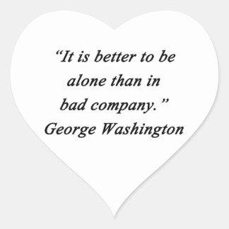 Pegatina En Forma De Corazón Bad Company - George Washington