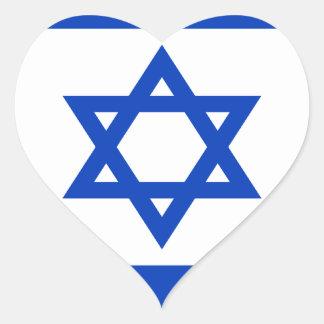 Pegatina En Forma De Corazón ¡Bajo costo! Bandera de Israel