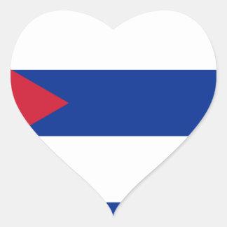 Pegatina En Forma De Corazón Bandera cubana - Bandera Cubana - bandera de Cuba