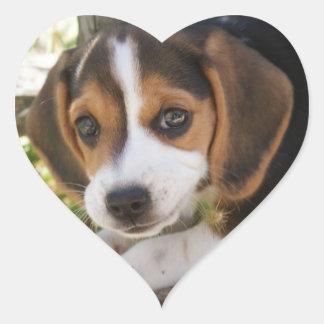 Pegatina En Forma De Corazón Beagle del perro de perrito