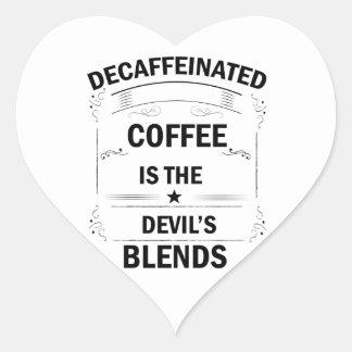 Pegatina En Forma De Corazón bebida divertida del café