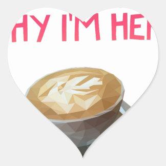 Pegatina En Forma De Corazón Beca bebida anónima del AA del café