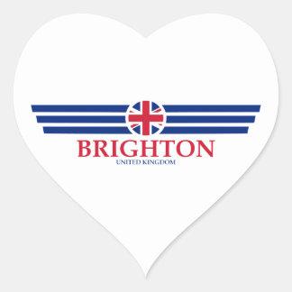 Pegatina En Forma De Corazón Brighton