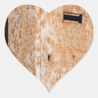 Pegatina En Forma De Corazón Buzón oxidado al aire libre