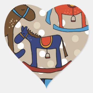 Pegatina En Forma De Corazón caballos mecedora