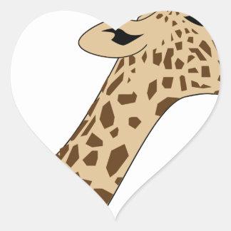 Pegatina En Forma De Corazón Cabeza de la jirafa