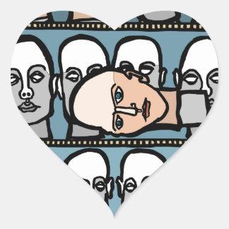 Pegatina En Forma De Corazón Cabezas del maniquí
