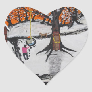 Pegatina En Forma De Corazón Cabina de la selva virgen