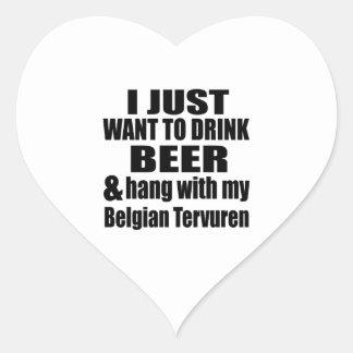 Pegatina En Forma De Corazón Caída con mi Tervuren belga