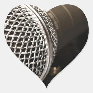 Pegatina En Forma De Corazón Canto del cable de micrófono del cable del