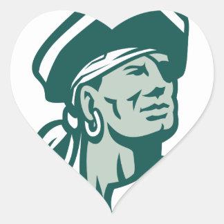 Pegatina En Forma De Corazón Capitán Bucanero Icon
