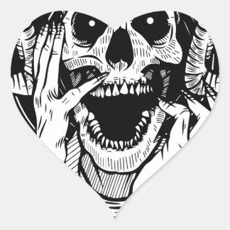 Pegatina En Forma De Corazón cara del diablo