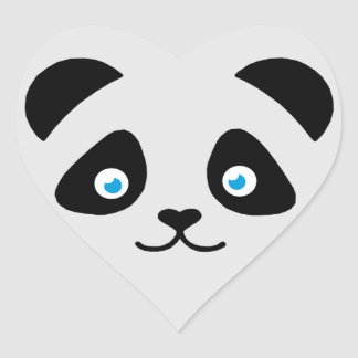 Pegatina En Forma De Corazón cara del oso de panda
