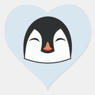 Pegatina En Forma De Corazón Cara del pingüino