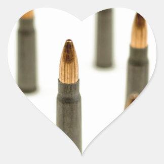 Pegatina En Forma De Corazón Cartucho 7.62x39 de AK47 de la bala de la munición