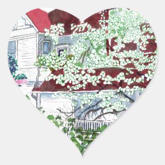 Pegatina En Forma De Corazón Casa del Victorian de Eureka Springs