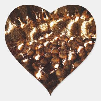 Pegatina En Forma De Corazón Cebollas a montones