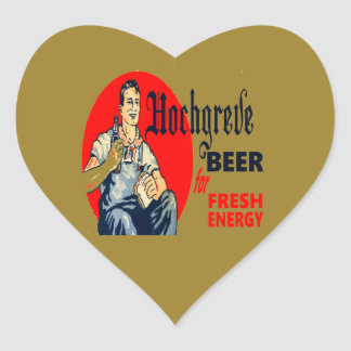Pegatina En Forma De Corazón Cerveza de Hochgreve
