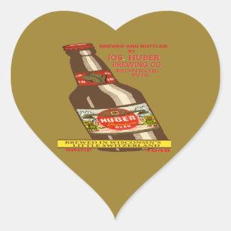 Pegatina En Forma De Corazón Cerveza de Huber
