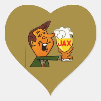Pegatina En Forma De Corazón Cerveza de Jax