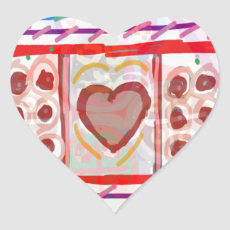 Pegatina En Forma De Corazón Chocolates dulces del amor n: EMBROMA arte