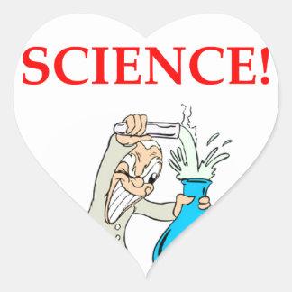 Pegatina En Forma De Corazón científico enojado