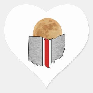 Pegatina En Forma De Corazón Claro de luna de Ohio