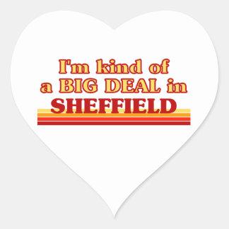 Pegatina En Forma De Corazón Clase de I´m de una gran cosa en Sheffield
