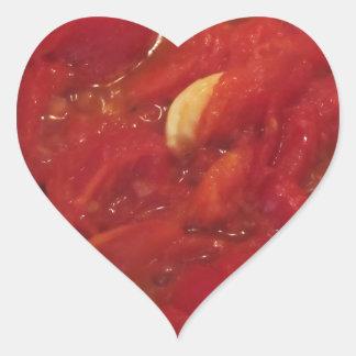 Pegatina En Forma De Corazón Cocinar la salsa de tomate hecha en casa