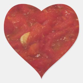Pegatina En Forma De Corazón Cocinar la salsa de tomate hecha en casa usando