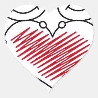 Pegatina En Forma De Corazón colección dulce del amor