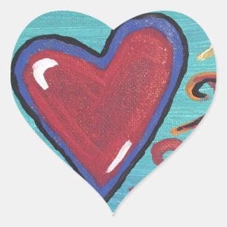 Pegatina En Forma De Corazón Colección roja de los corazones