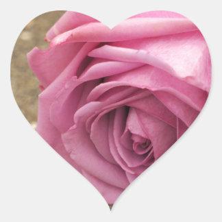 Pegatina En Forma De Corazón Color de rosa rosado