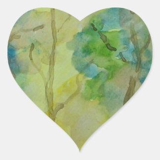 Pegatina En Forma De Corazón Colores del otoño
