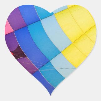 Pegatina En Forma De Corazón Colorido abstracto