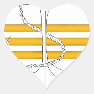 Pegatina En Forma De Corazón comandante del oro, fernandes tony