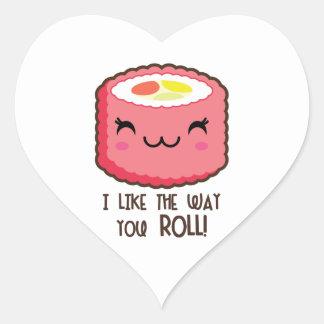 Pegatina En Forma De Corazón Como la manera usted rollo de sushi